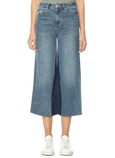 Mo&Co Yüksek Bel Bol Paça Jean Pantolon  Mavi